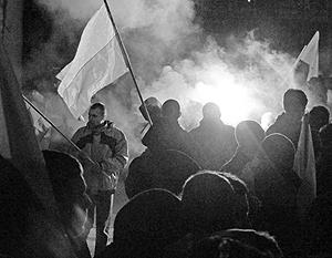 Организаторы марша утверждают, что зданию дипмиссии России не был нанесен урон
