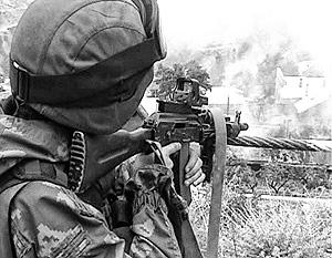 Боевиков, заблокированных в доме, удалось уничтожить лишь на следующий день
