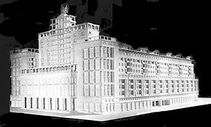 Новая гостиница будет в точности создана по оригинальному проекту архитекторов Щусева, Сопрана и Савельева