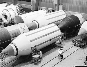 На фото – ракета «Днепр», которая производится украинским Южмашем по программе конверсии из легендарной РС-30 («Воевода»)