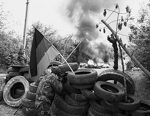 Первый удар пришелся на блокпосты на северной окраине Славянска