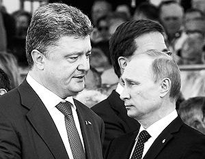 Путин и Порошенко до сих пор встречались лишь один раз – 6 июня на торжествах в Нормандии они поговорили 15 минут