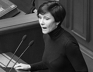 От женщины-депутата потребовали «встать на колени перед украинской армией»