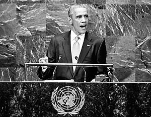 Барак Обама заявил на Генассамблее ООН о «российской агрессии в Европе»