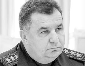 Президент Украины внес в Верховную раду представление на назначение командующего Нацгвардией Степана Полторака министром обороны