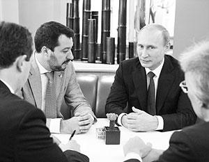 Владимир Путин встретился с Маттео Сальвини – секретарем единственной итальянской партии, признавшей присоединение Крыма к России