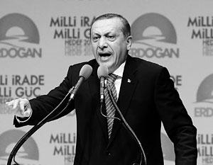Президент Турции Тайип Эрдоган демонстрирует решительность