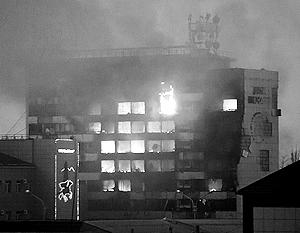 Боевики пытались спрятаться от силовиков в Доме печати в центре Грозного