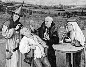 Фрагмент картины Иеронима Босха «Извлечение камня глупости»