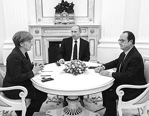 Переговоры в Кремле прошли без переводчиков – все три лидера владеют немецким