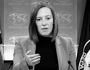 Любимица российских журналистов Джен Псаки в очередной раз подтвердила свою репутацию