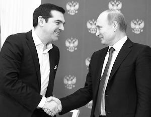 Алексис Ципрас и Владимир Путин обсудили статус Греции как транзитера российского газа