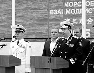 Девять российских и китайских кораблей проводят совместные военные учения
