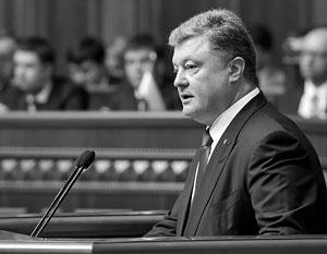 В послании парламенту Порошенко назвал мирных жителей Донбасса «украинскими пленными», не заметив двусмысленности этого выражения