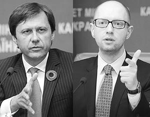 В борьбе за контроль над природными ресурсами Яценюк и Шевченко параллельно обвиняют друг друга в коррупции и связях с олигархами