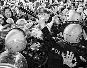 «Мы – это Черногория», «Никогда в НАТО», «Война – не судьба для Черногории», выкрикивали протестующие