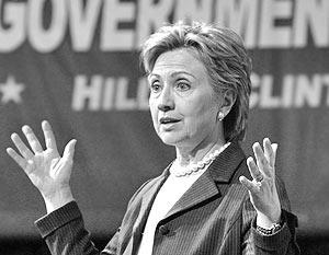 Кандидат в президенты США сенатор Хиллари Клинтон