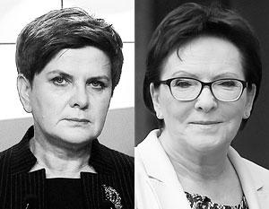 Кандидаты в премьер-министры Польши Беата Шидло и Эва Копач не любят Россию