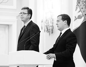 Во вторник Вучич провел переговоры с Медведевым, встреча с Путиным состоится в четверг