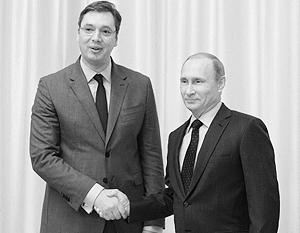 Изначально в протоколе визита Вучича не была прописана встреча с президентом Путиным