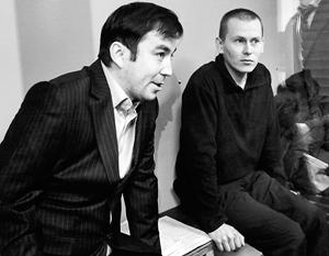 Россияне Евгений Ерофеев (слева) и Александр Александров заявили киевским судьям о своей невиновности