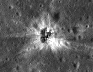 Место падения отработанной ступени носителя, который использовался для доставки на Луну экспедиции «Аполлона-16»