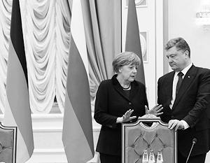 Петр Порошенко хочет, чтобы Ангела Меркель гарантировала Украине доходы от транзита российского газа