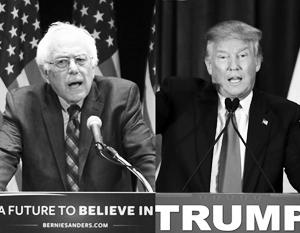 При всех различиях Берни Сандерса и Дональда Трампа объединяет неприязнь к ним истеблишмента