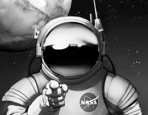 Плакат НАСА, рекламирующий миссию по освоению Марса