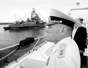 Сергей Шойгу отстранил командующего Балтийским флотом