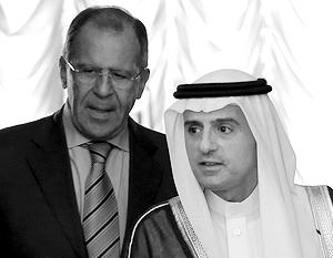 Министр иностранных дел Саудовской Аравии Адель аль-Джубейр с Сергеем Лавровым
