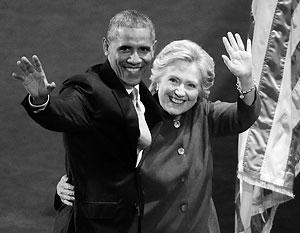 Барак Обама подхватил выпавшее из рук Клинтон знамя с надписью «Трамп – это Путин»