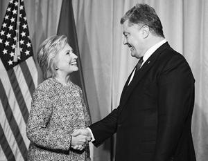 Порошенко пытался встретиться с обоими кандидатами в президенты США – но удалось только с одним