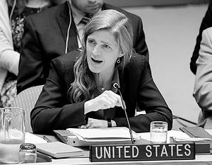 Постпред США в ООН Саманта Пауэр договорилась до того, что назвала действия России и сирийского правительства в районе Алеппо «подарком террористам»