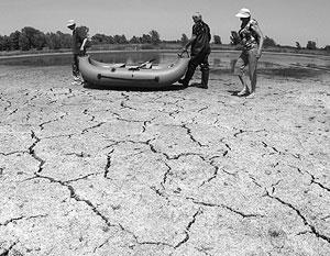 Часто аномально теплая погода становится причиной высыхания рек даже там, где этого никто не предполагал