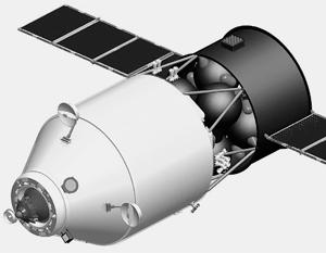 Не исключено, что для сведения МКС с орбиты будут использованы новые российские грузовые корабли ТГК ПГ (изображен на рисунке)