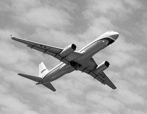 Российский Ту-214ОН привлекает особое внимание американской разведки