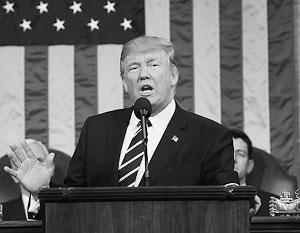 Дональд Трамп впервые выступил перед Конгрессом