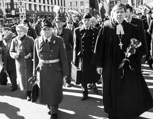 На акцию сторонников легионеров СС пришли порядка двух тысяч человек