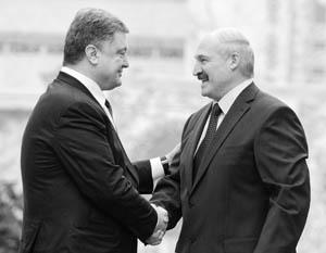 Порошенко и Лукашенко старательно демонстрируют расположение друг к другу