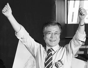Выборы президента Южной Кореи проходят в один тур, поэтому Мун Чже Ин победил в них, набрав всего 41 процент