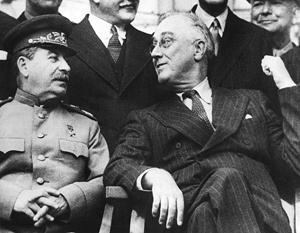 Первая встреча в верхах – Сталин и Рузвельт в Тегеране в ноябре 1943 года