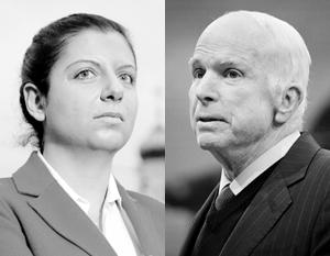 Маргарита Симоньян и Джон Маккейн поспорили заочно. Последний до смешного неубедителен