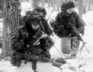 Тактические учения эстонских солдат