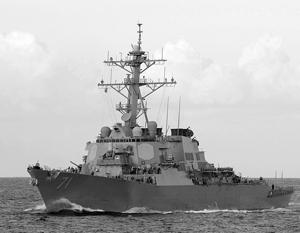 Эсминец «Росс», курсирующий в Черном море, оснащен ракетами «Томагавк»