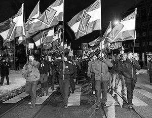 Финские ультраправые на марше
