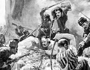 Болгария помнит о помощи России в борьбе за независимость (на картине изображена оборона Шипки в 1877 году)