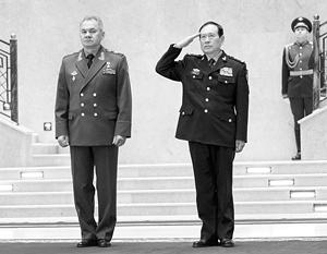 Сергей Шойгу и генерал-полковник Вэй Фэнхэ