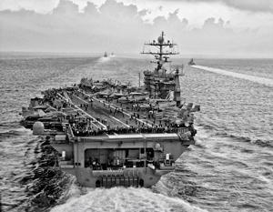 Американская авианосная группа имеет глубину обороны в 1,5 тысячи километров