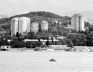 Вид города Сочи